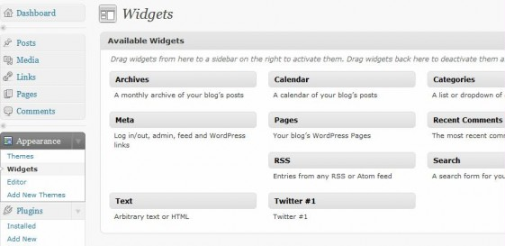 widgets