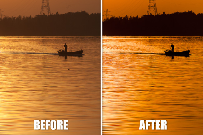 producing-sunset-silhouette-lightroom-photography-tutorial-before-after