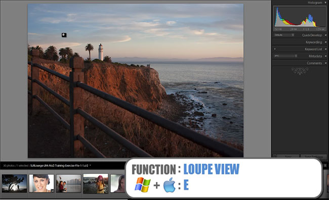 Lightroom 4 Loupe-View-Shortcut