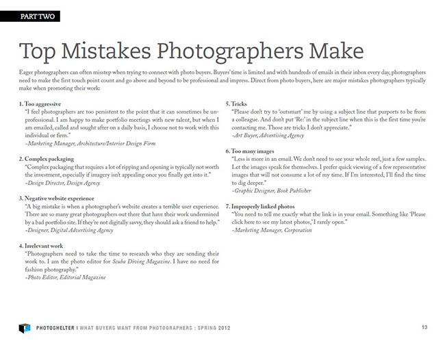 Top Mistakes Photographers Make