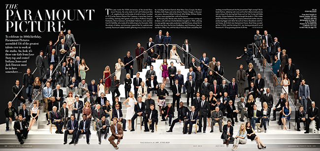 Art Streiber Paramount 100th Vanity Fair