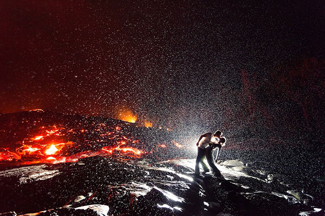 Lava Kiss by Dallas Nagata White