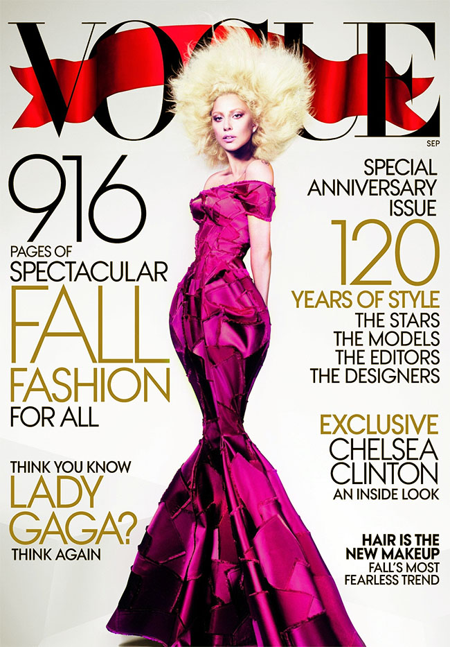 Lady Gaga for September 2012 Vogue by Mert & Marcus