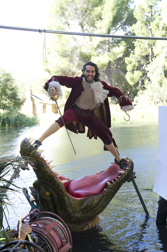 BTS of Russell Brand as Captain Hook in New Disney Parks Dream Portrait by Annie Leibovitz (AP Photo/Disney Parks.com, Scott Brinegar)