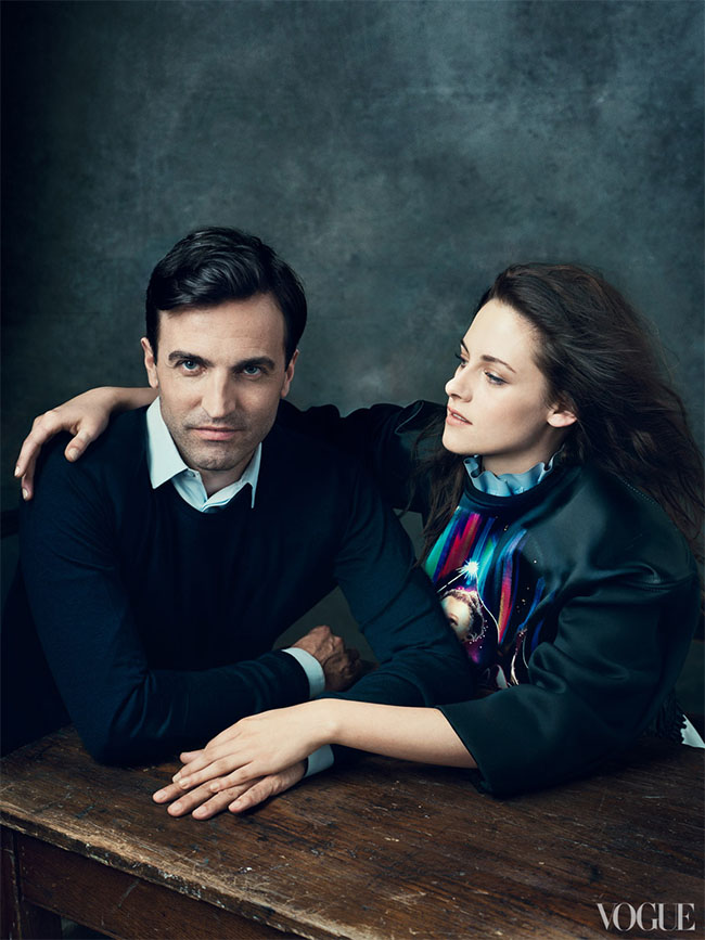 Nicolas Ghesquire and Kristen Stewart for Vogue 120 by Norman Jean Roy