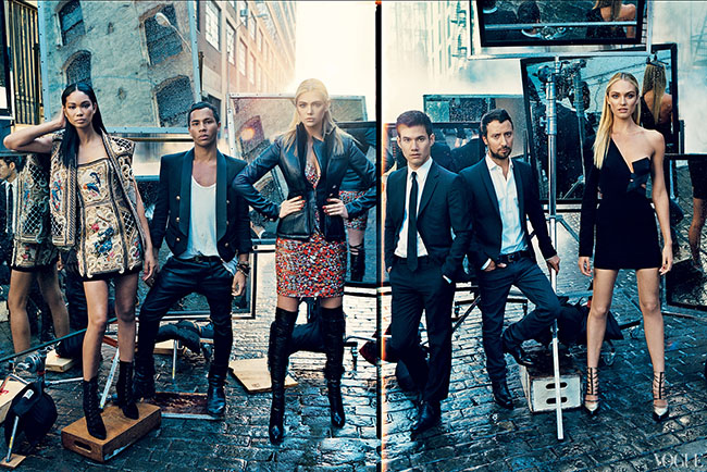 Olivier Rousteing, Joseph Altuzarra, and Anthony Vaccarello for Vogue 120 by Norman Jean Roy