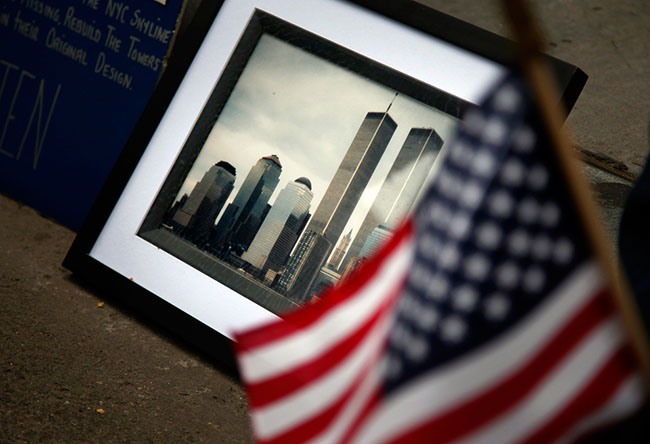 Sept 11 Anniversary Framed Photo by Tom Fox/The Dallas Morning News