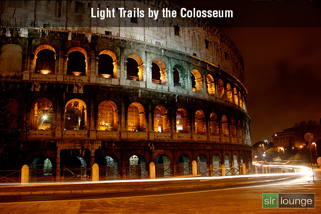 Light Trails by Colosseum by Gtait20
