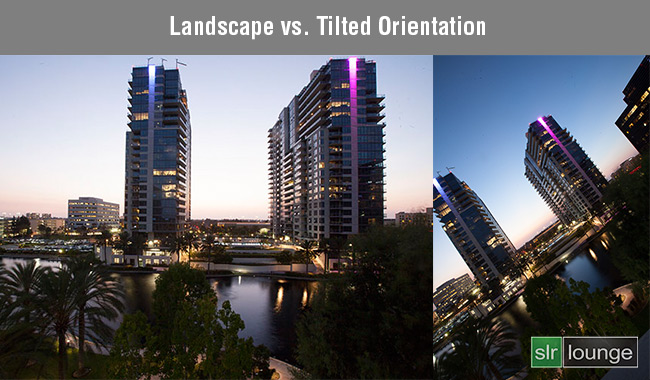 Landscape vs Tilted Orientation