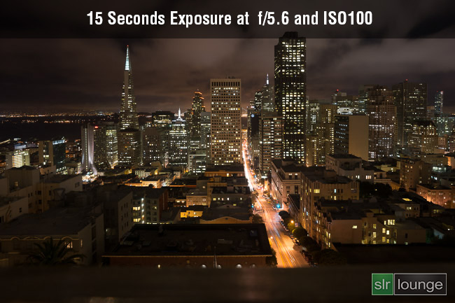 Slow shutter speed at ISO100