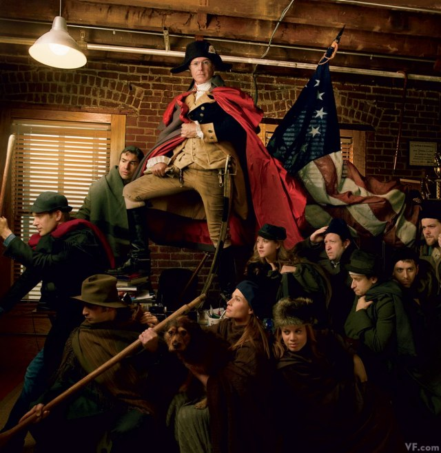 Stephen Colbert Crossing the Desktop by Annie Leibovitz