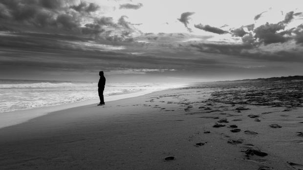 Alone in the Beach by sujithgokul
