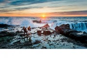 sunset-tidepool-portrait-hdr-splash